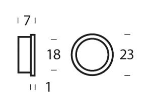 10 nylon rings 20mm18mm white