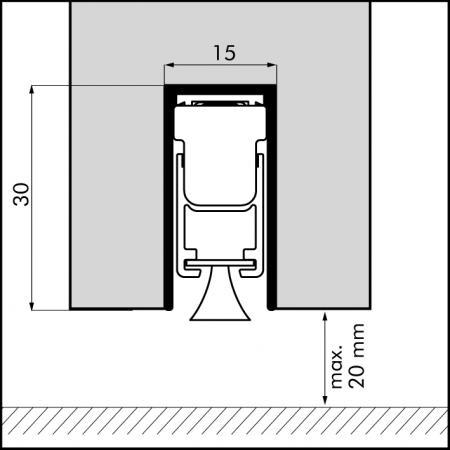 dropseals profile 928mm