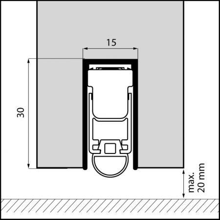 dropseals profile rubber 828mm