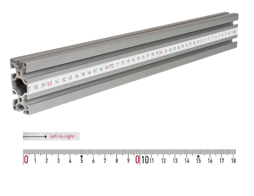 fence rail measuring tape 2m lr