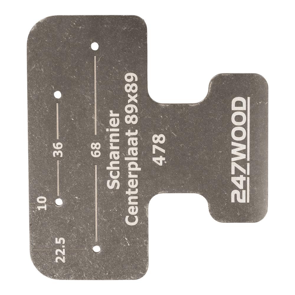 hinge center plate 89x89