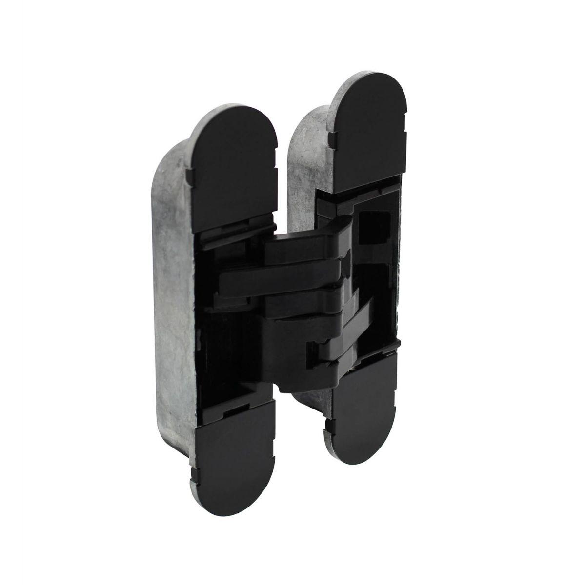 invisible 3d hinge zamak black