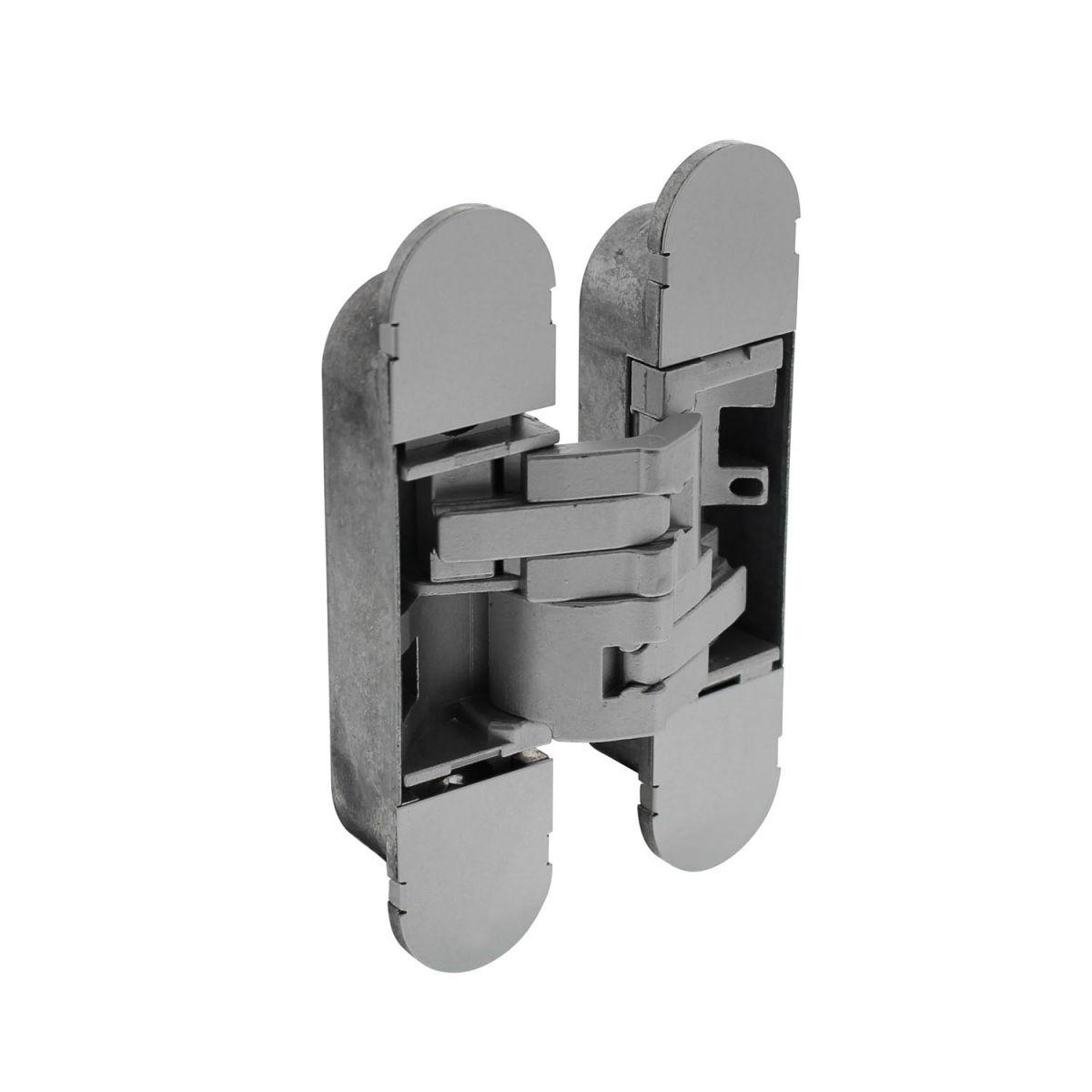 invisible 3d hinge zamak gray