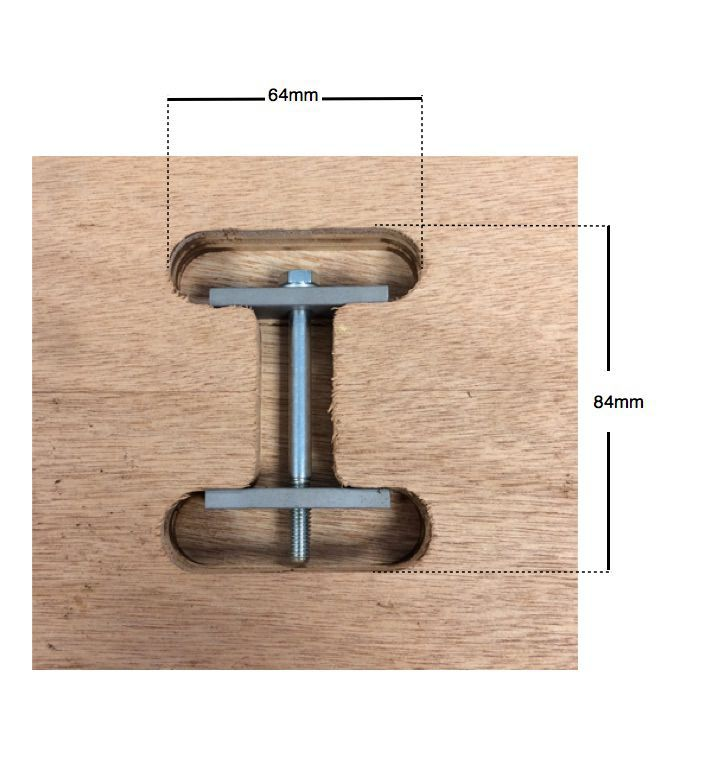 kitchen top connector router template