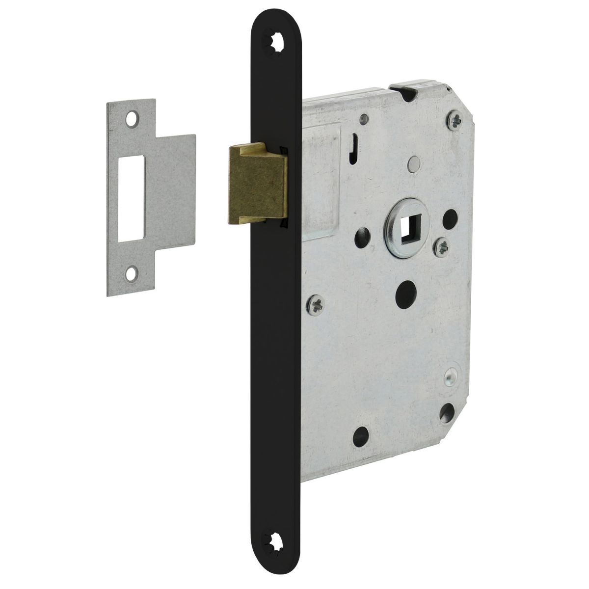 lock with black front plate