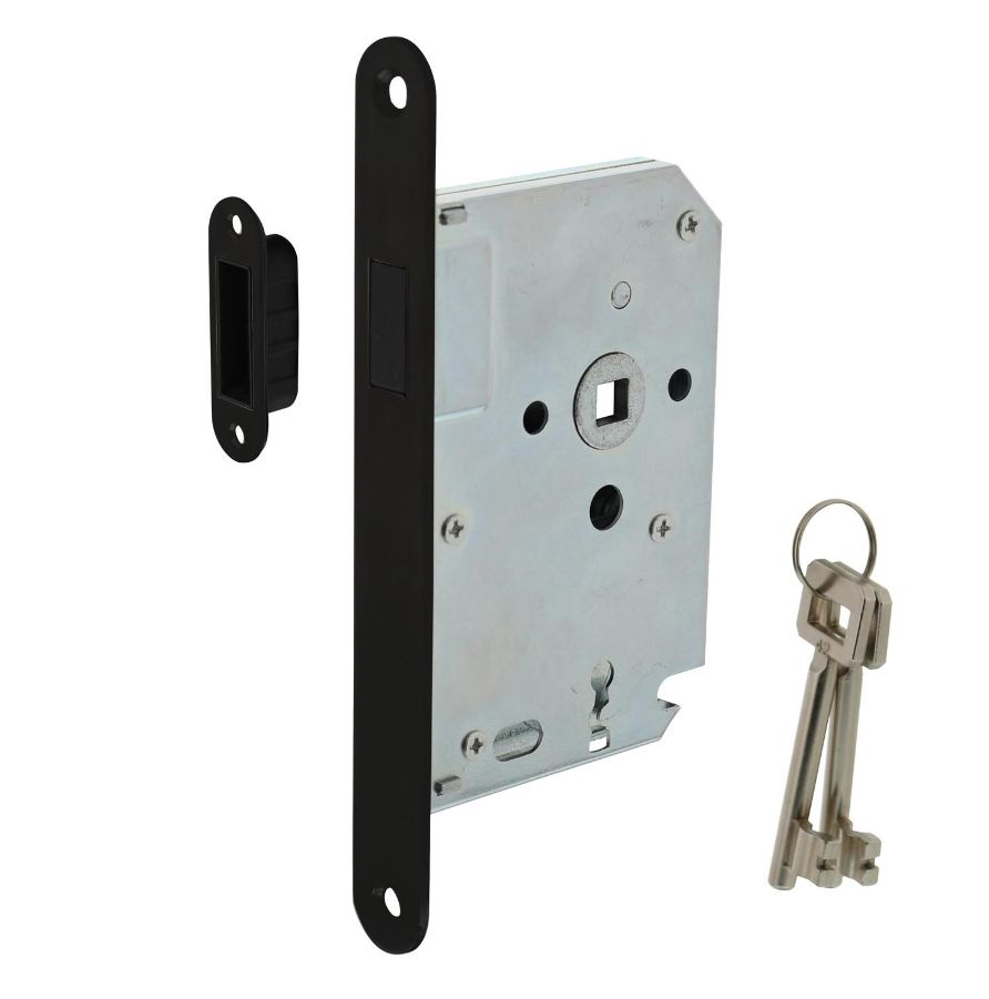 magnet case lock with black front plate