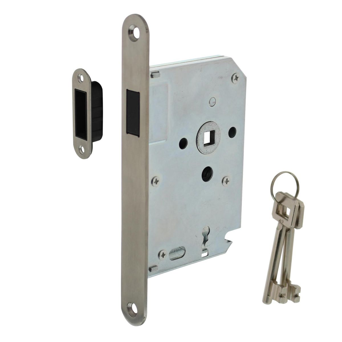 magnet case lock with stainless steel front plate