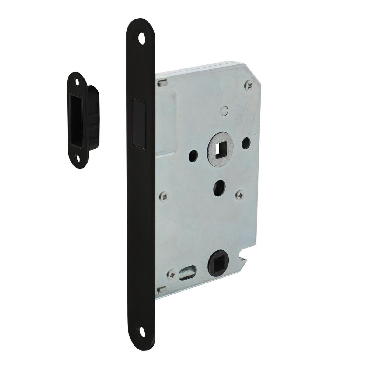 magnet toilet lock with black front plate
