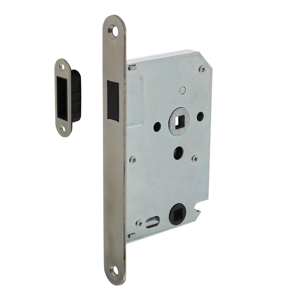 magnet toilet lock with stainless steel front plate