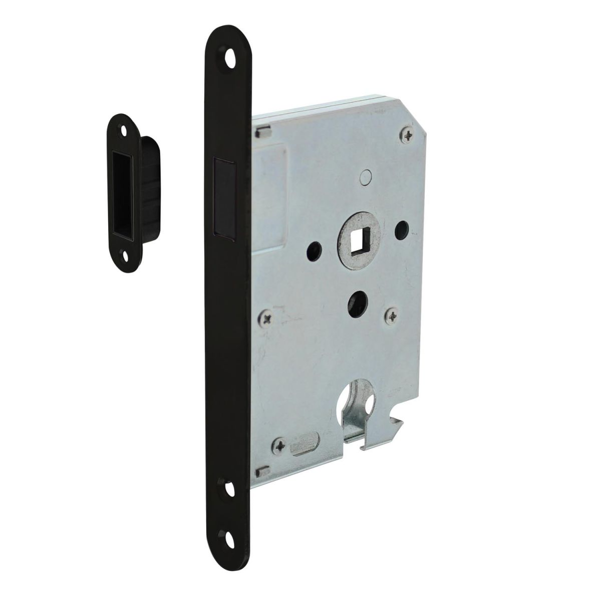 magnetic cylinder day and night lock with black front plate