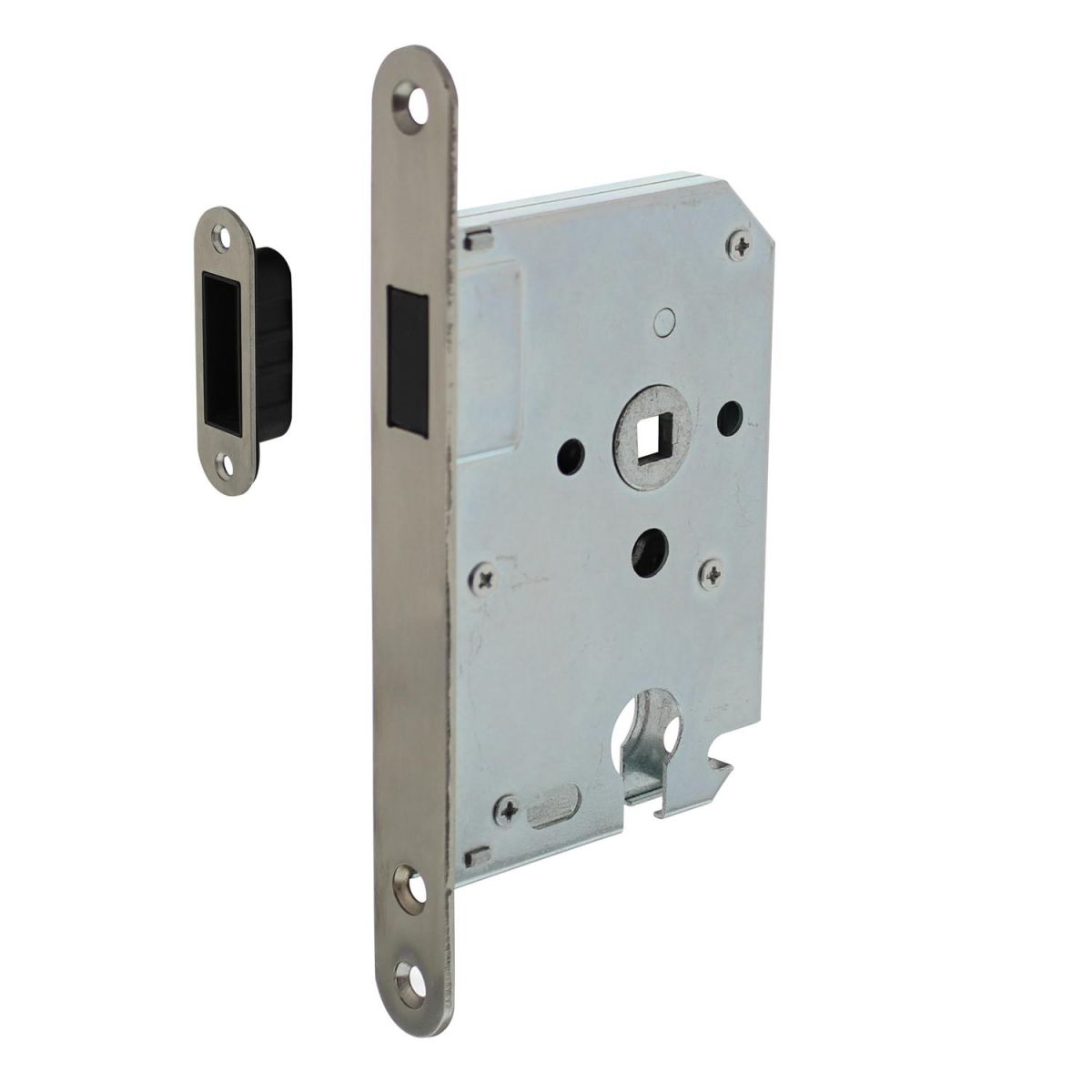 magnetic cylinder day and night lock with stainless steel front plate