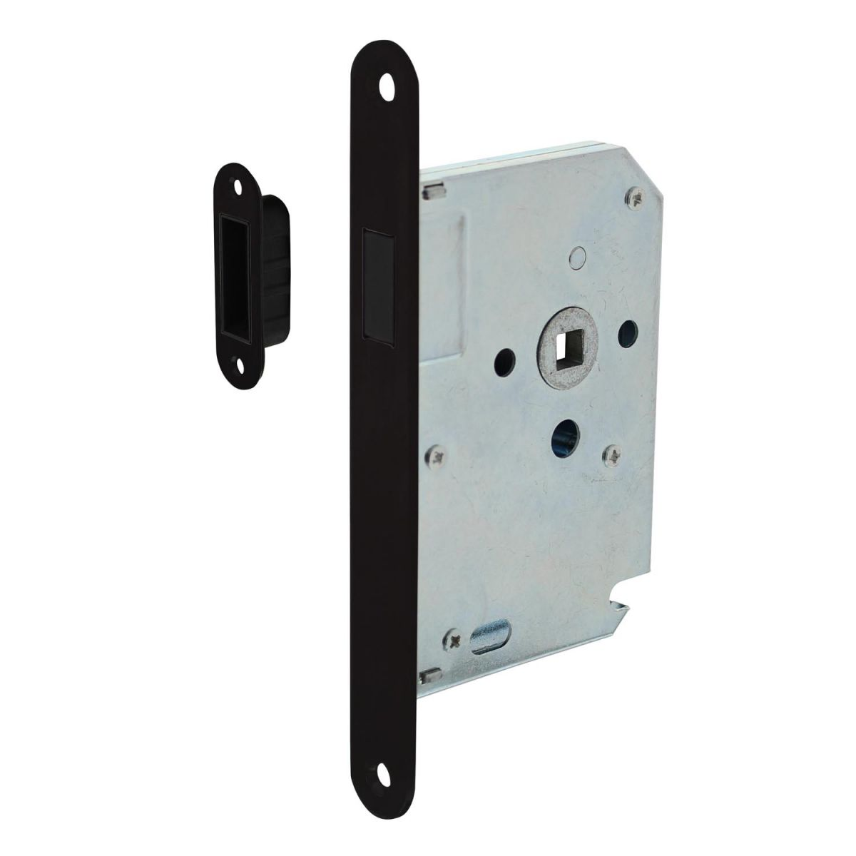 magnetic lock with black front plate