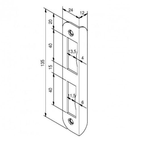 nemef corner strike plate 1200 series