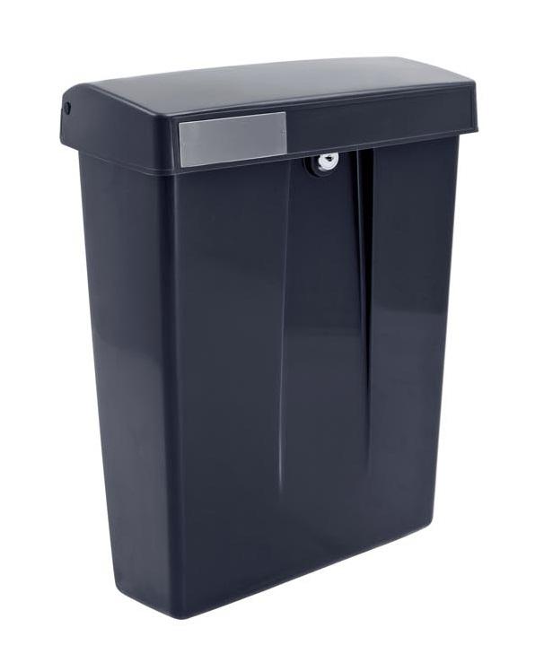 old school dutch letterbox black