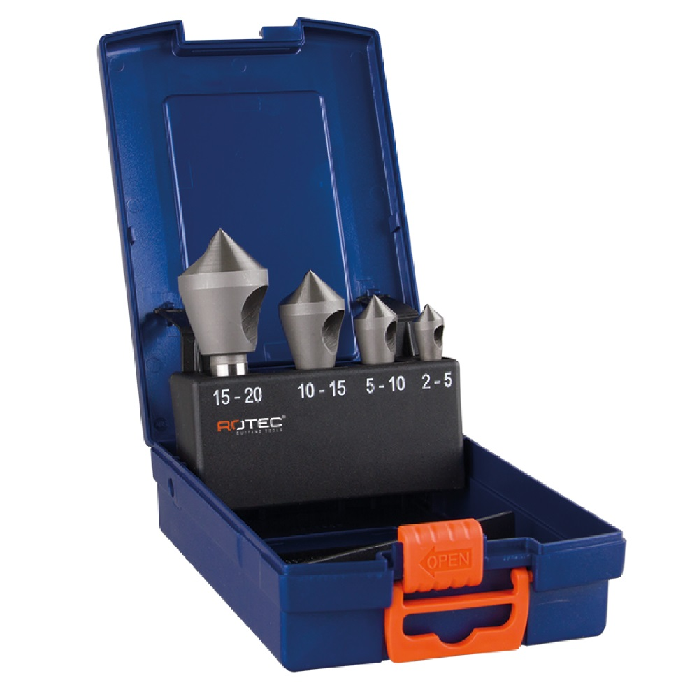 rotec countersink set 4piece hssco