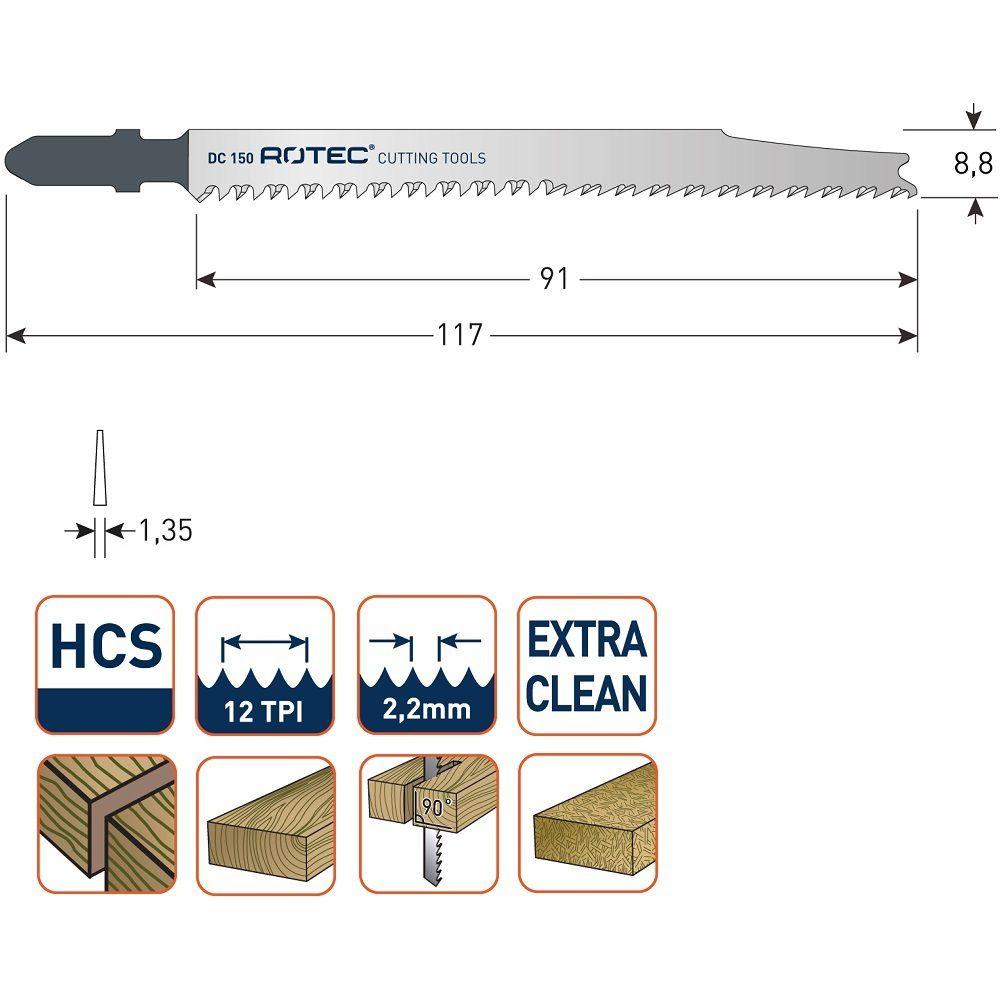 rotec dc150 jigsaw blade 5pcs