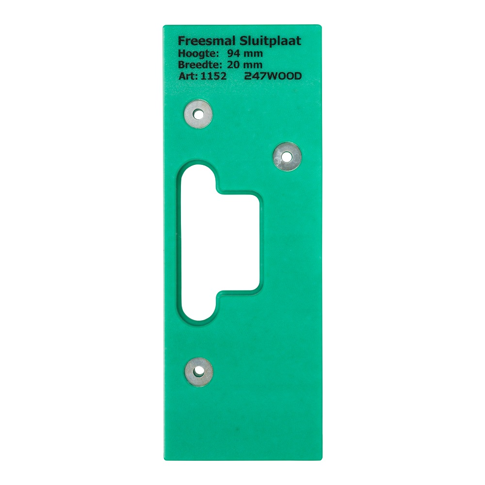 route template strike plate 94x20