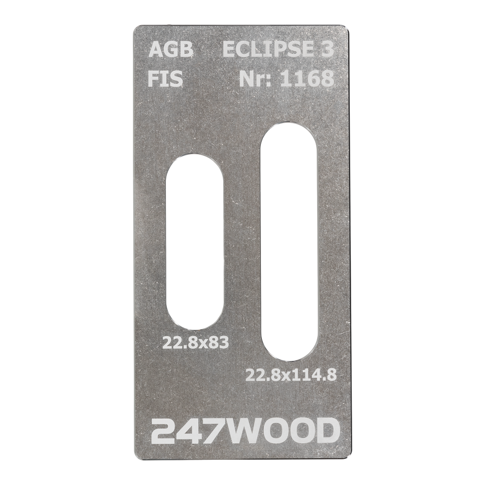 router template agb eclipse 3 inox 115x23