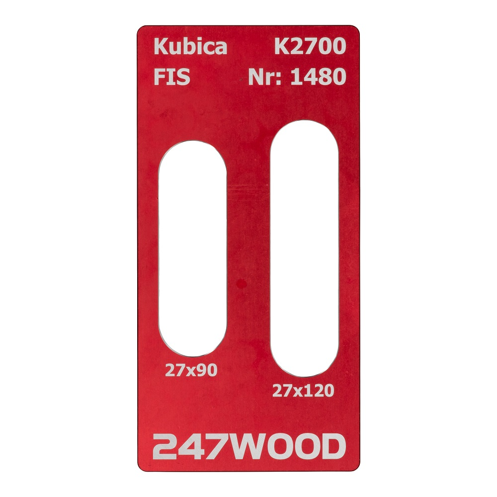 router template kubica k2700 120x27