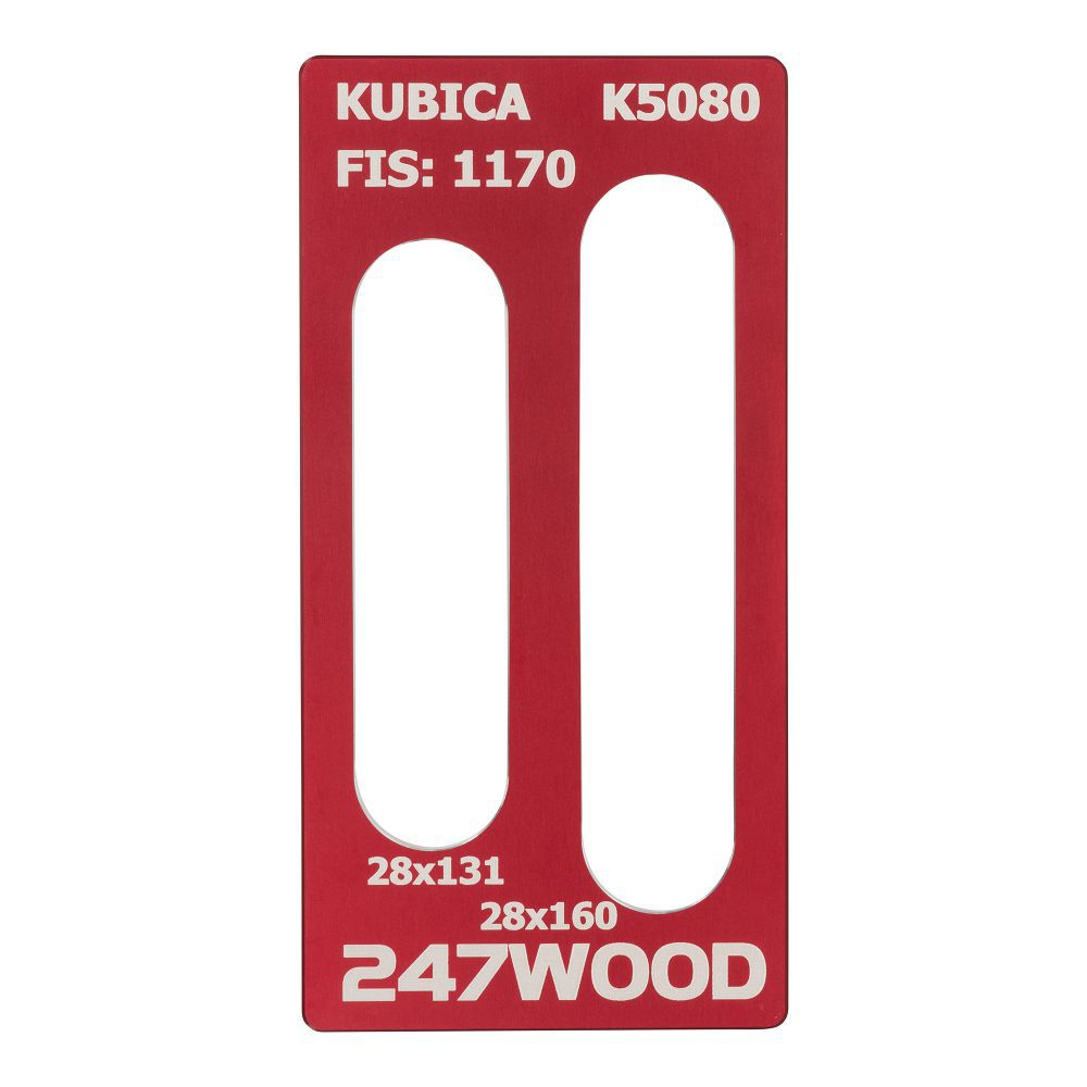 router template kubica k5080 160x28