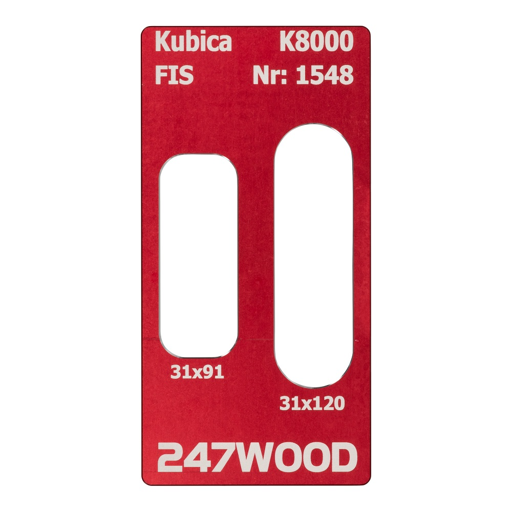 router template kubica k8000 120x31