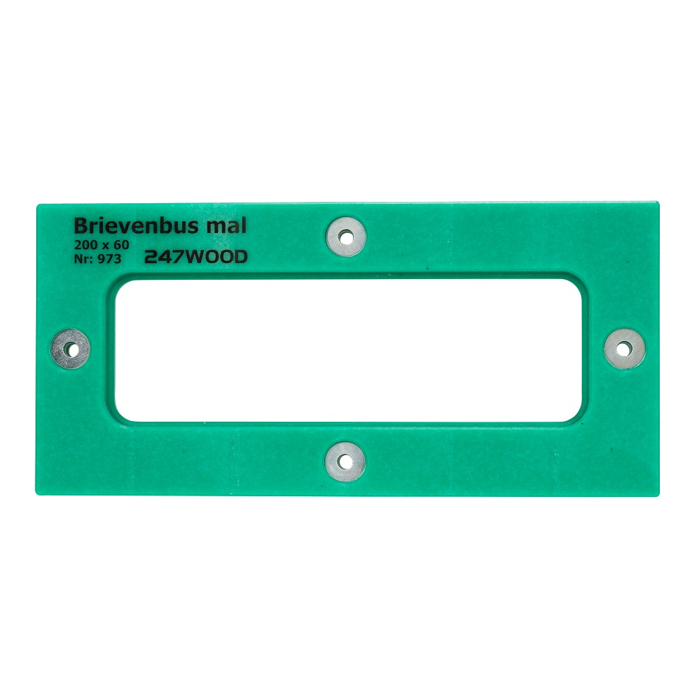 router template letterbox 200 x 60 mm