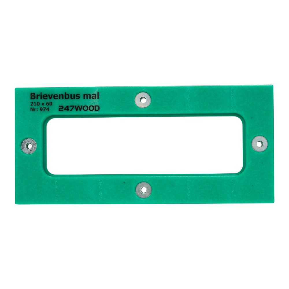 router template letterbox 210 x 60 mm