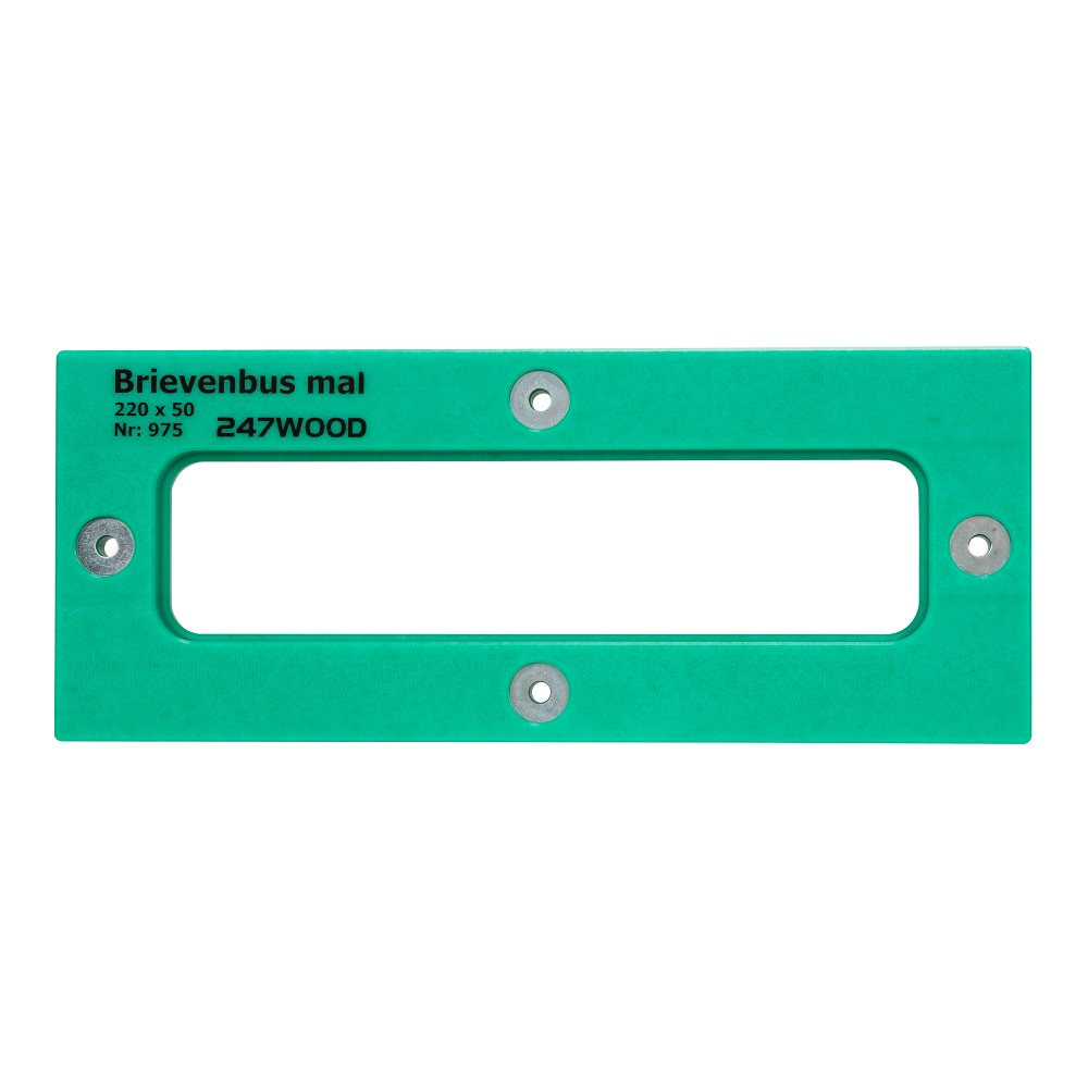 router template letterbox 220 x 50 mm