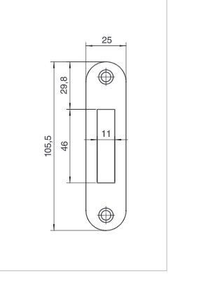 router template strike plate 105x25