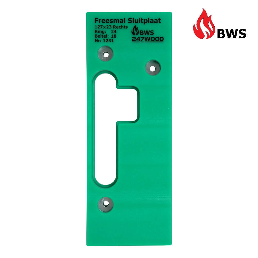 router template strike plate 127x23 right bws