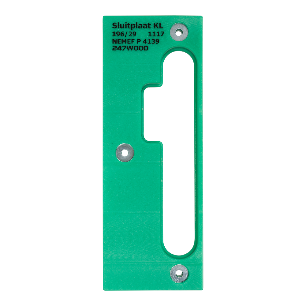 router template strike plate 196x29 left kl