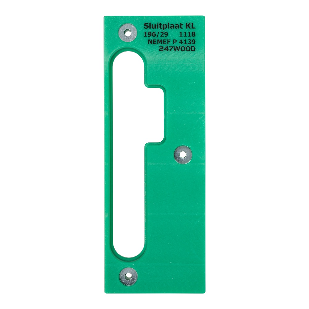 router template strike plate 196x29 right kl