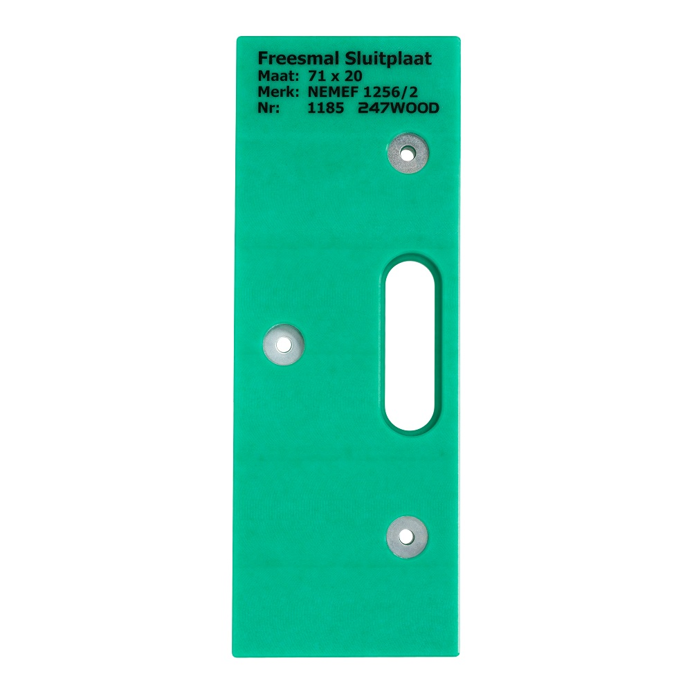 router template strike plate 71x20