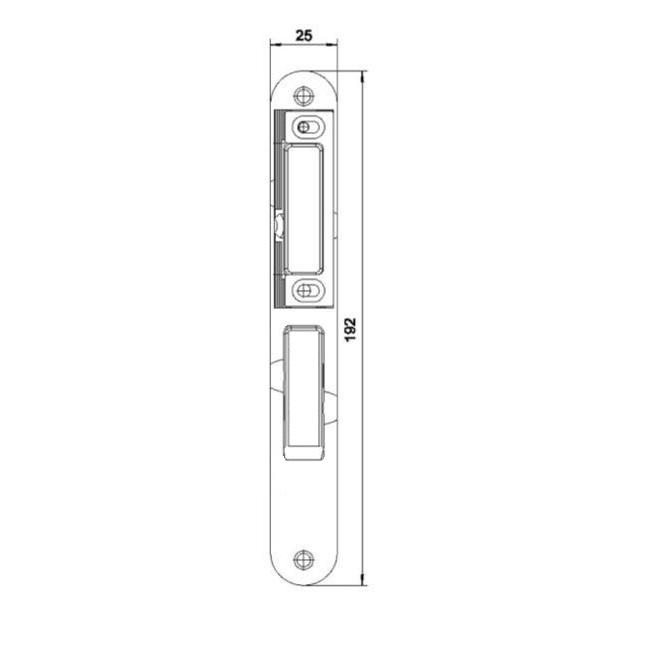 router template strike plate hmb 192x25