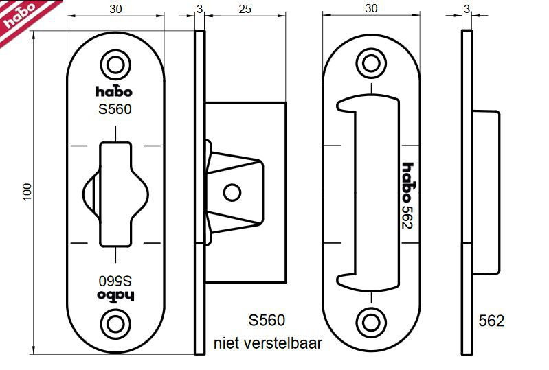router template strike plate nemef 115x25