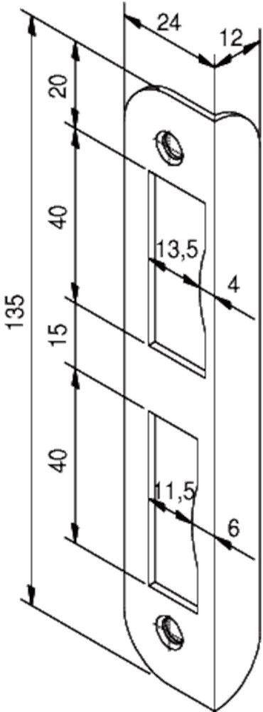 router template strike plate nemef 1200