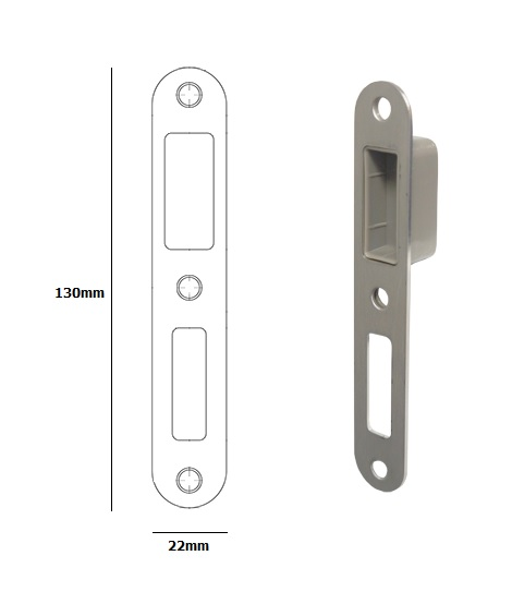 router template strike pocket buva 73x22 magnetic lock