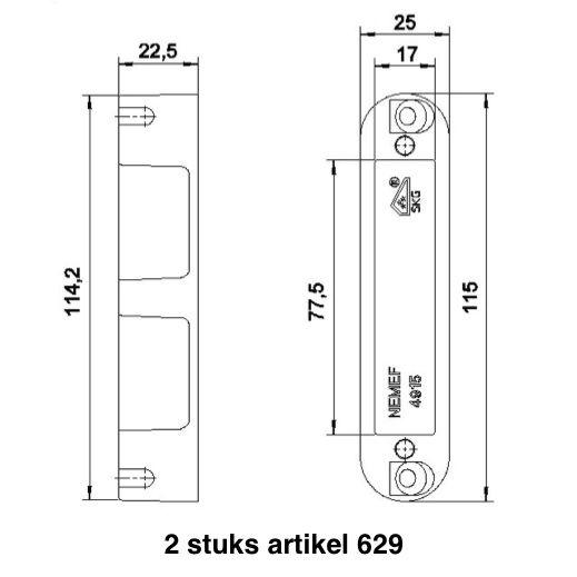 router template strike pocket nemef 115x25 bws