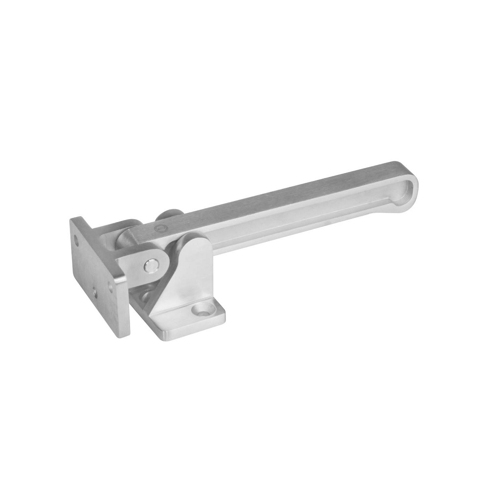silvergray door closer with slide rail