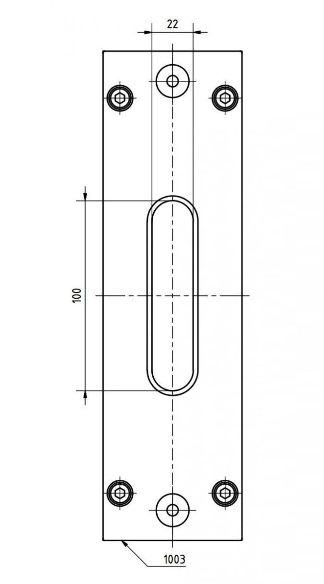 sks front plate 100x22