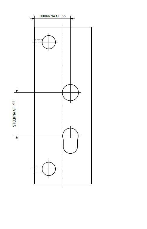sks side plates mandrel 55 pitch 92
