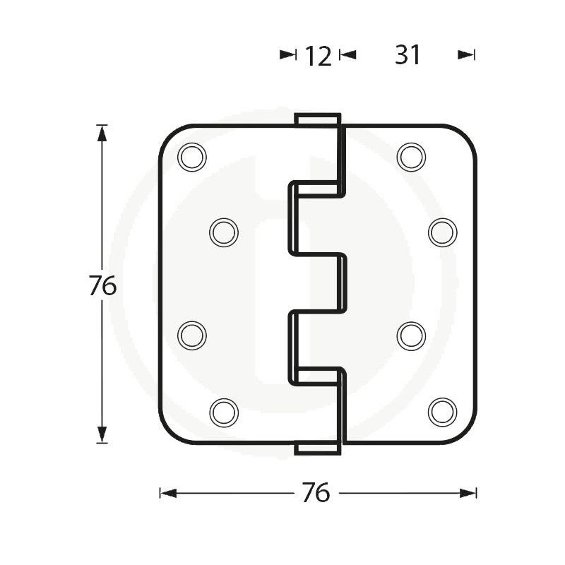 stainless steel hinge 76x76