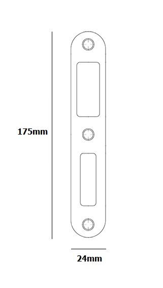 strike pocket pertura magnet lock 20x175